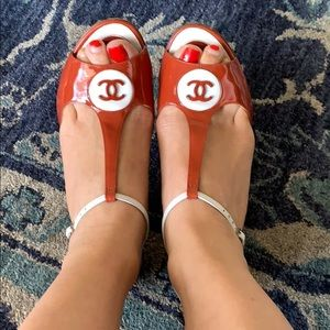 Chanel sandals size 38,5